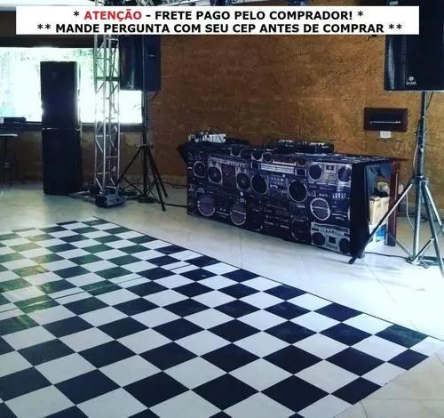 Pista de dança xadrez - 2x3m - 6m² - piso xadrez dj tapete