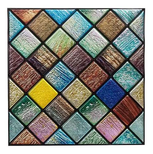 Placa 3d revestimento alto relevo colorido pvc 30x30cm