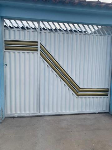 Portões de garagem galvanizado