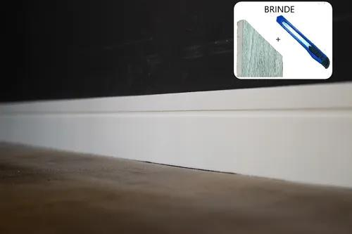 Rodapé eva flexível autoadesivo 10cmx1cm lucca 12 metros