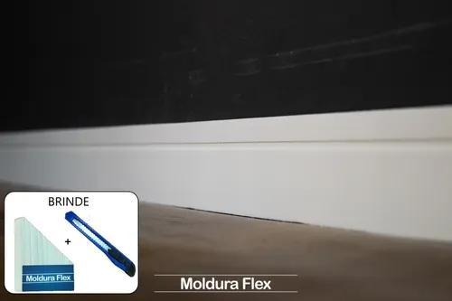 Rodapé eva flexível autoadesivo 7cm x 0,5cm lucca 12