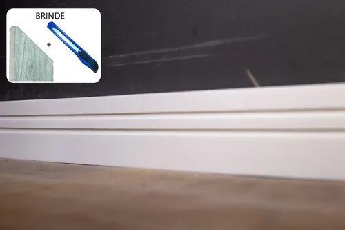 Rodapé eva flexível autoadesivo 7cm x 1cm napoli 12 metros