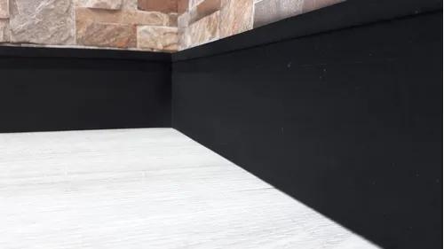 Rodapé eva flexível preto*maresia 7cm x 1cm* 10 metros