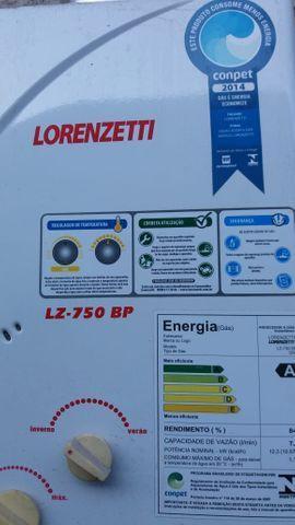 Vendo aquecedor à gás lorenzetti