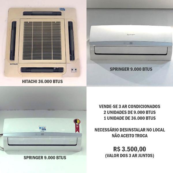 Ar condicionado split e cassete