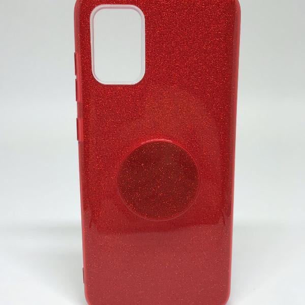 Capinha de celular samsung galaxy a51 brilho vermelho com