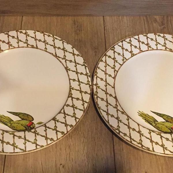 Conjunto 2 pratos periquitos le lis home