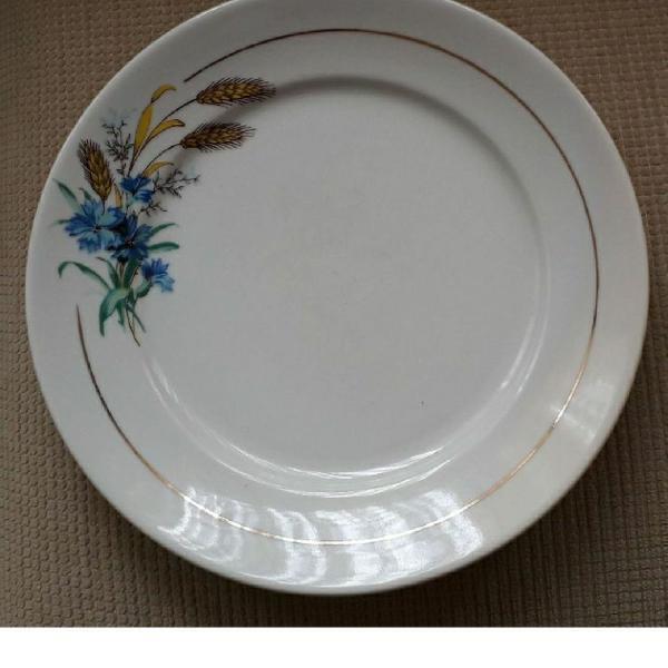 Conjunto de 2 pratos porcelana schmidt