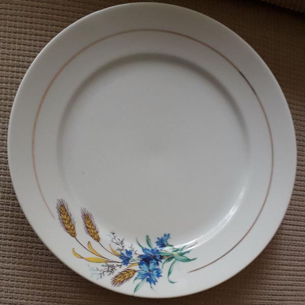Conjunto de 6 pratos porcelana schmidt