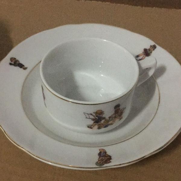 Conjunto de louça porcelana schimidt
