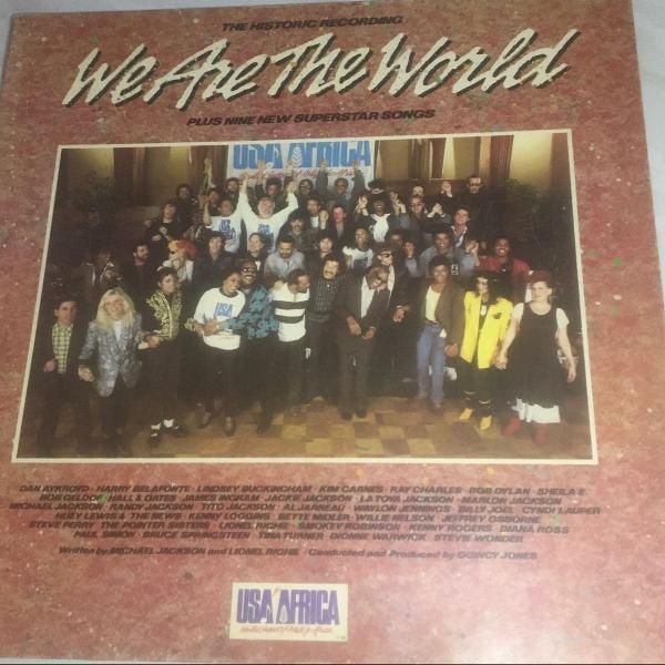 Disco de vinil- we are the world