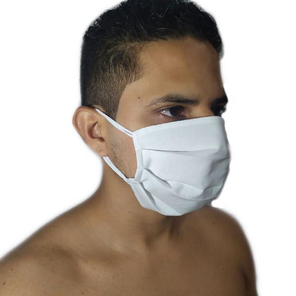 Kit 3 máscara de proteçao pano de tecido duplo algodão
