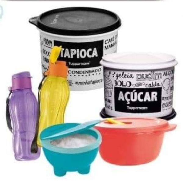 Kit 6 peças tupperware