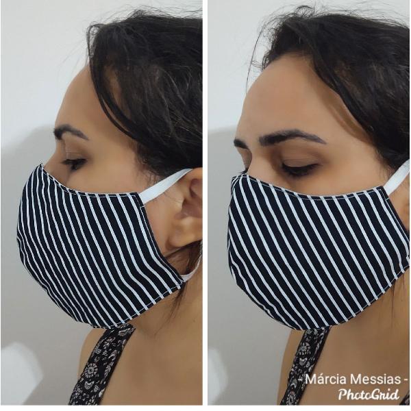 Mascara tecido triplo