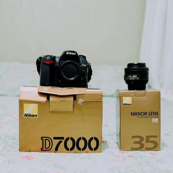 nikon d7000 usada mais lente 35 mm 1.8 nunca usada
