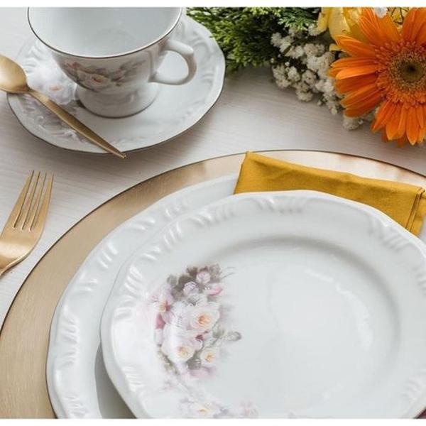 Porcelana schimidt jogo jantar chá café 42 pç vitória