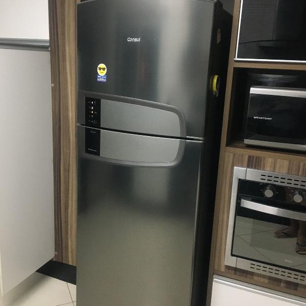 Refrigerador consul frost free duplex 437l inox 110v