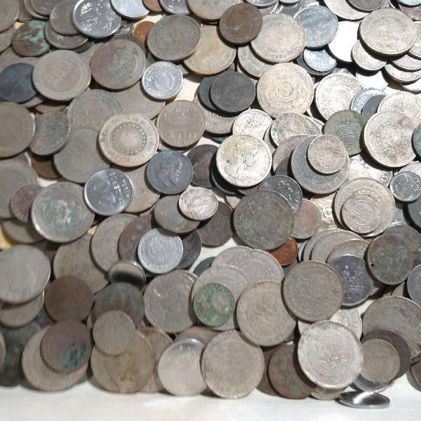 2 quilos de moedas