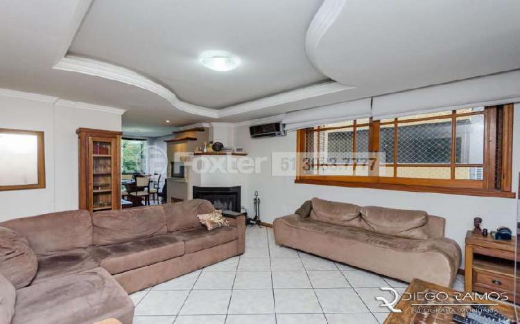 Apartamento c/104m²; 3 dorm; 1 suíte, lareira, churr; 2