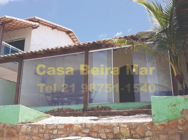 Casa de frente da praia de figueira-arraial do cabo rj