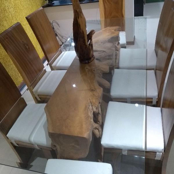 Mesa c/ 12 cadeiras importada