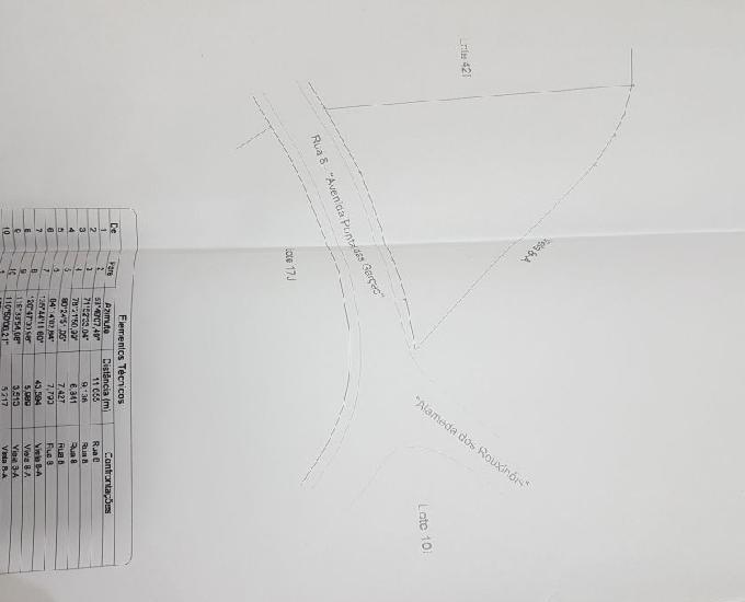 Terreno 1052 m2 com escritura