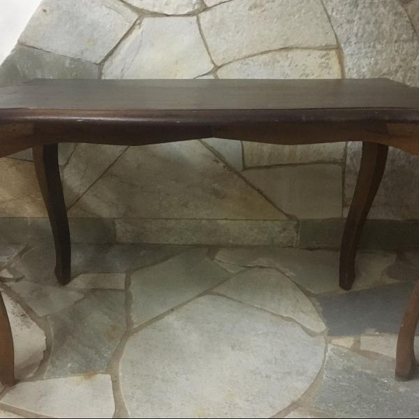 Antiga mesa de centro madeira lei maciça!!!!1950