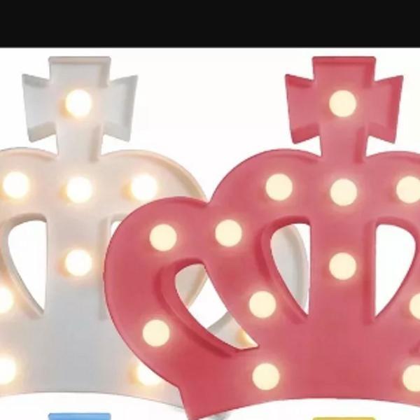 Coroa led luminária rosa ou branco unidade .