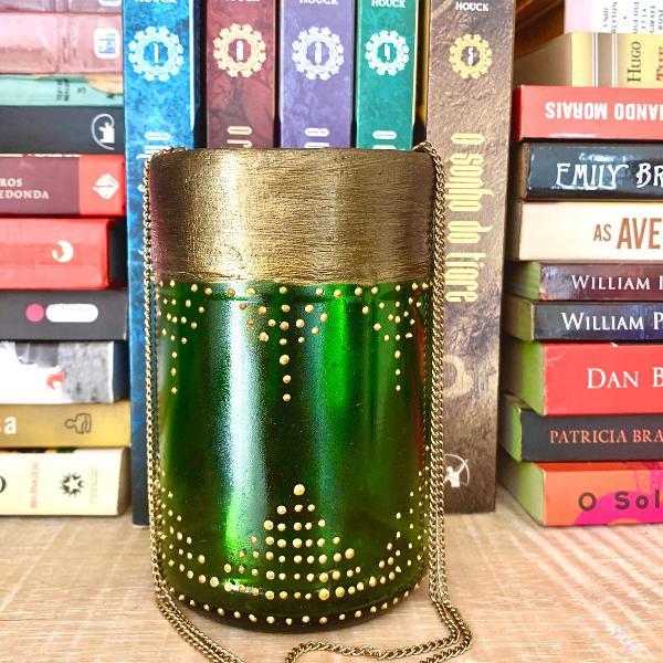 Lanterna marroquina verde escuro