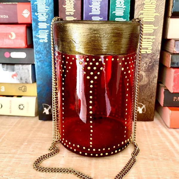 Lanterna marroquina vermelhão