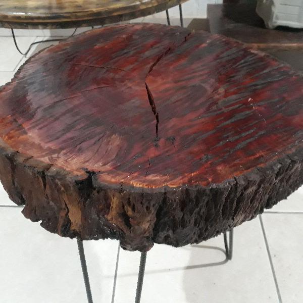 Mesa de centro madeira rústica maciça