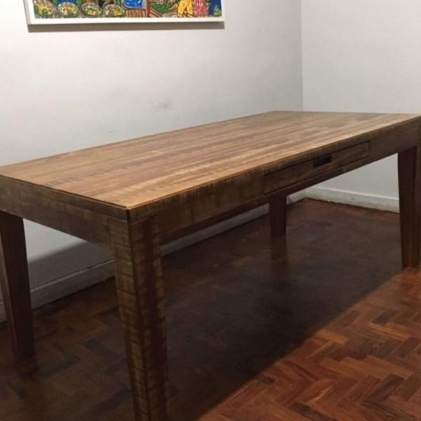 Mesa de madeira maciça tok stok