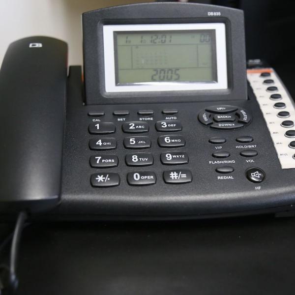 Telefone com fio digital bras db 835
