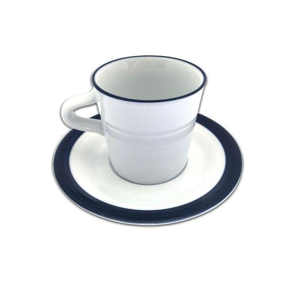 Xícara c/pires de porcelana greek