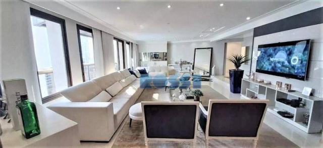 Apartamento com 4 dormitórios à venda, 300 m² por r$