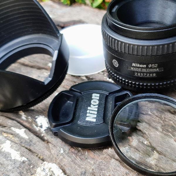 Lente nikon 50mm f/1.8d af nikkor foco manual