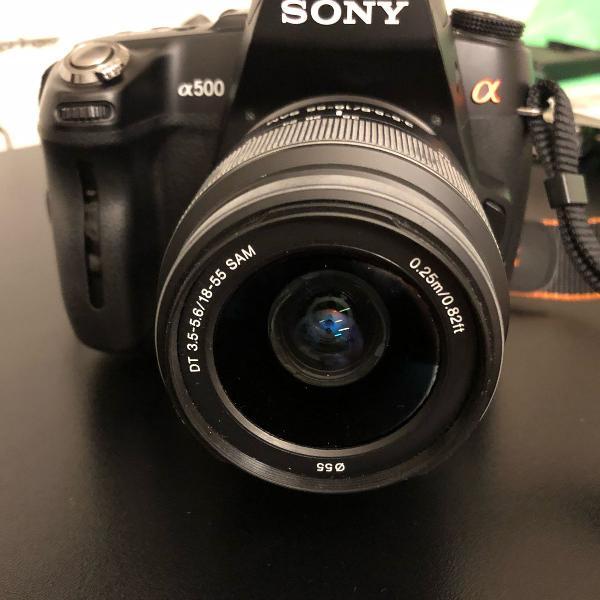 Câmera sony digital dslr a 500