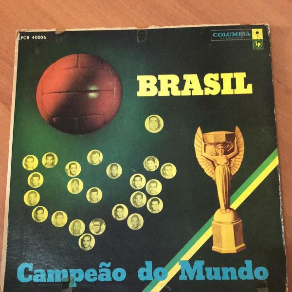 Disco lp original brasil - campeão do mundo - 1958