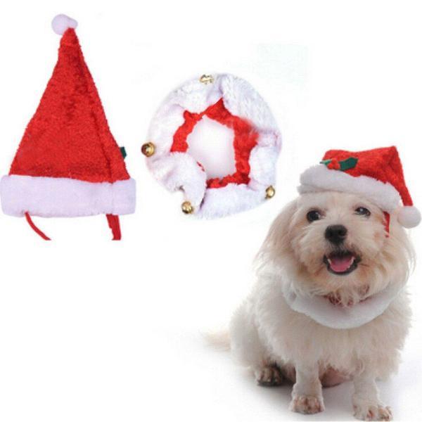 Natal pet cachorro/gato enfeite pescoço e acessório de