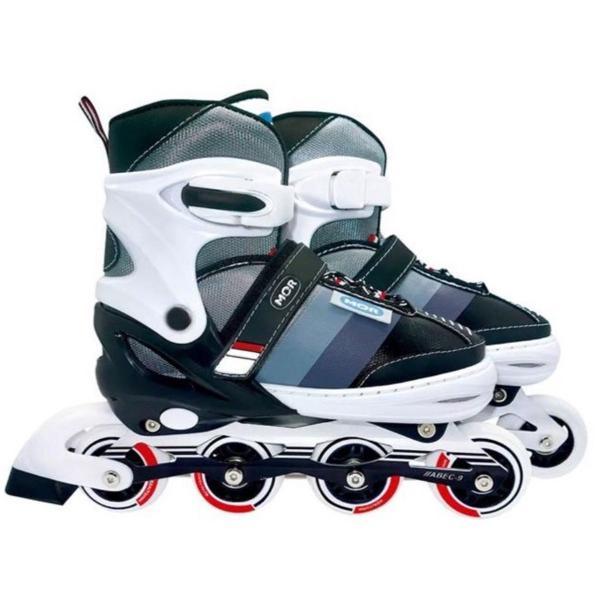 Patins semi-pro roller mor + kit proteção