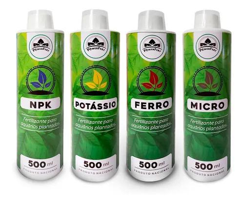 Fertilizante liquido aquário plantado kit 500 ml