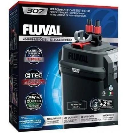 Filtro canister fluval f 307 p/ até 350l