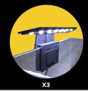 Luminária soma x3 5w modelo black com led na cor branco