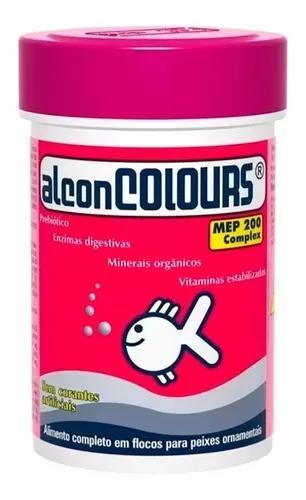 Ração alcon colours 50g-ração flocos p/ peixes