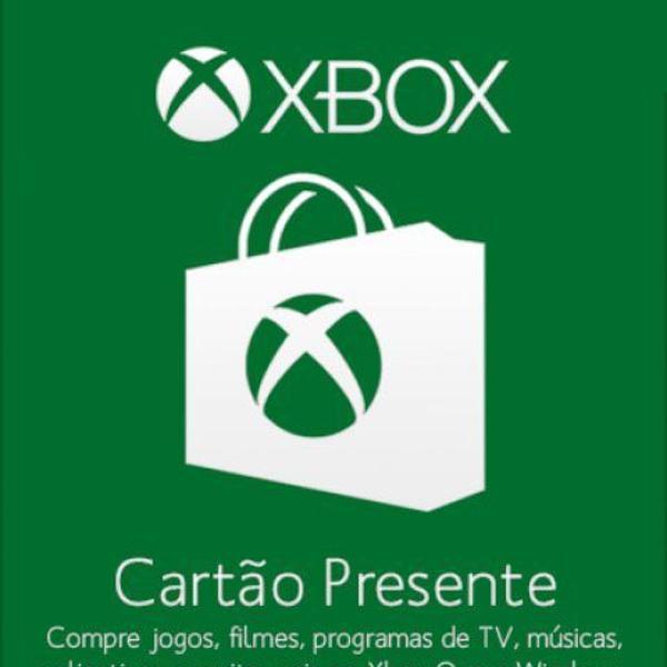 Cartão presente pré pago xbox live r$ 5 reais