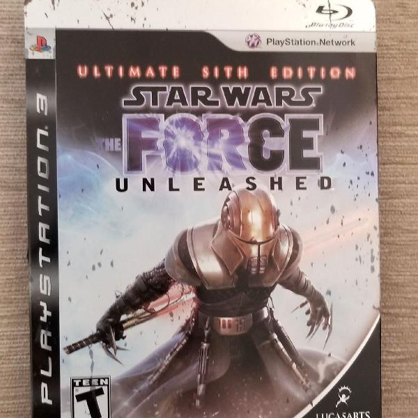 Jogo ps3 star wars force unleashed ultimated sith edition