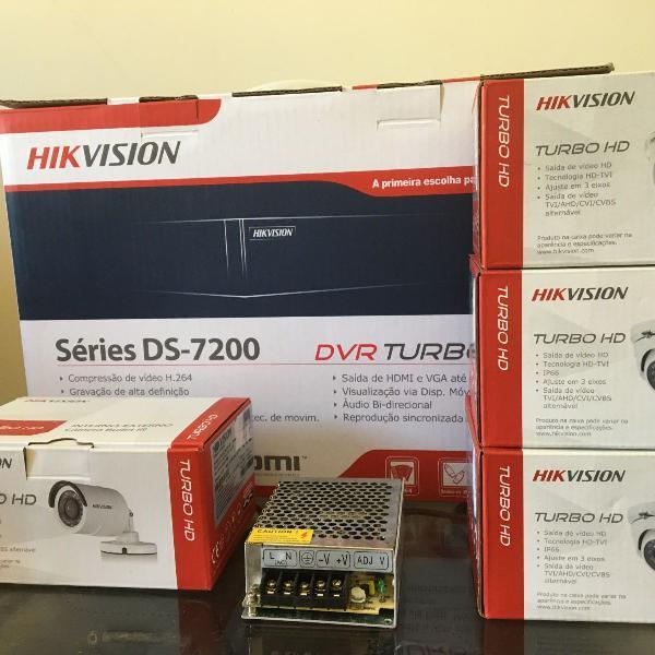 Kit hikvision com 4 câmeras