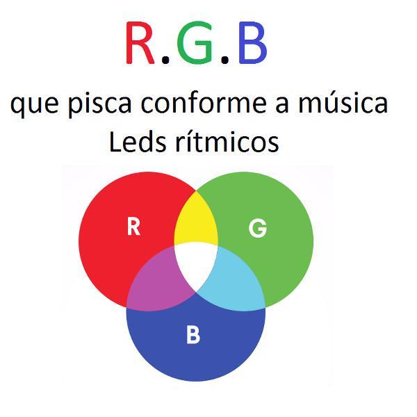 led ritmico rgb para computador/notebook/pc