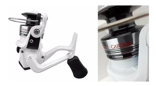 03un. molinete micro cardeal 3 rolamentos pesca ultra light