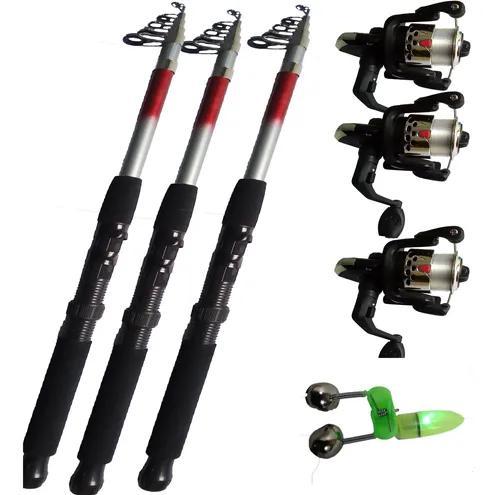 3 vara de pesca 3.6mts 28 lbs molinete ultra light 2 rol